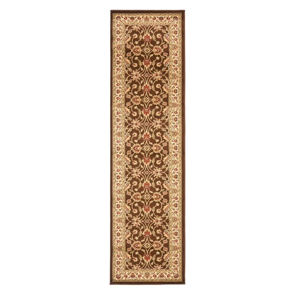 23X16 Floral Loomed Runner Brown/Ivory - Safavieh Price