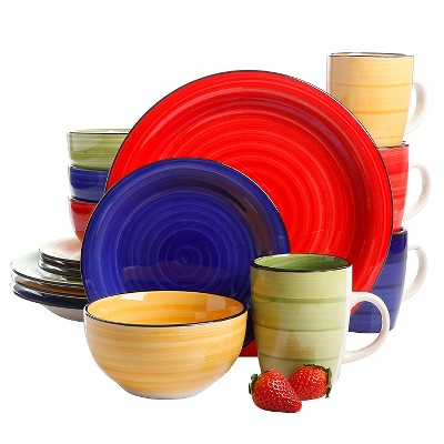 Gibson Select Color Splash 16pc Dinnerware Set