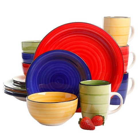 Gibson Select Color Splash 16pc Dinnerware Set - image 1 of 1