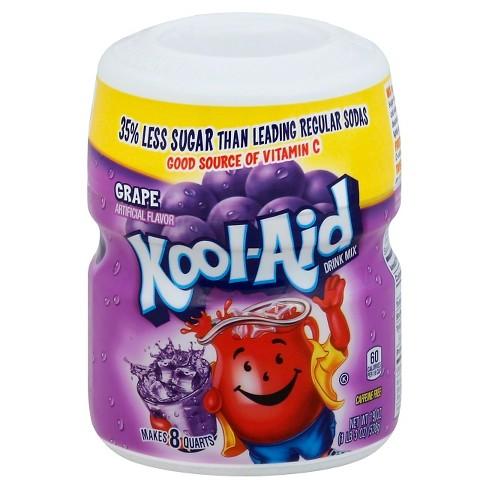 Kool Aid Grape Drink Mix 19oz Canister Target