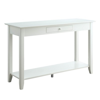 American Heritage Console Table with Drawer White - Breighton Home