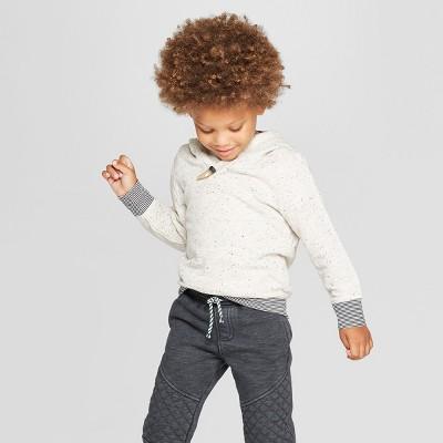 Toddler Boys' Genuine Kids® from OshKosh Texture Hoodie Sweatshirt - Oatmeal Gray 18M