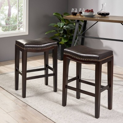 """Set Of 2 26"""" Avondale Backless Counter Height Barstools - Christopher Knight Home : Target"""