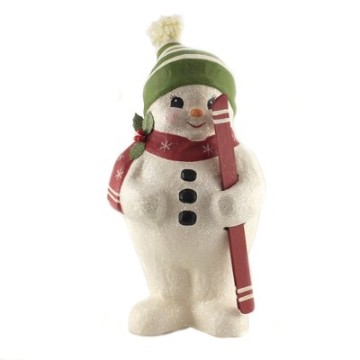 """Christmas 16.0"""" Snowman With Skis Snow Winter  -  Decorative Figurines"""