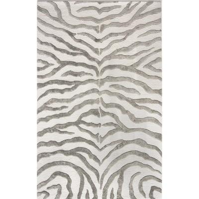 Nu Loom 100 Percents Wool Radiant Zebra Area Rug by Nu Loom