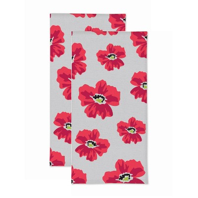2pk Poppy Print Kitchen Towel - MU Kitchen