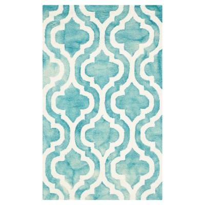 Harper Accent Rug - Turquoise / Ivory (2' X 3')- Safavieh