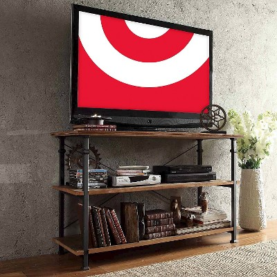 Ronay Rustic Industrial TV Stand  Inspire Q Rustic Industrial Tv Stand O31