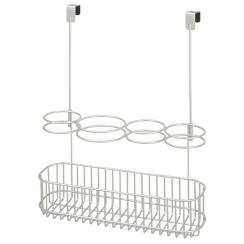 mDesign Over Door Hanging Hair Care Styling Tool Storage Basket, Large - image 1 of 4