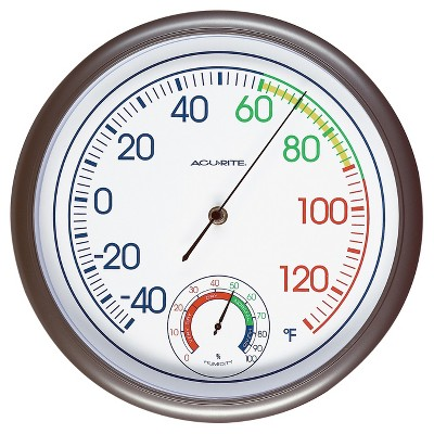 11.8  Outdoor / Indoor Thermometer with Humidity - Titanium Finish - Acurite