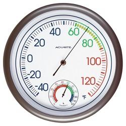 "11.8"" Outdoor / Indoor Thermometer with Humidity - Titanium Finish  - Acurite"