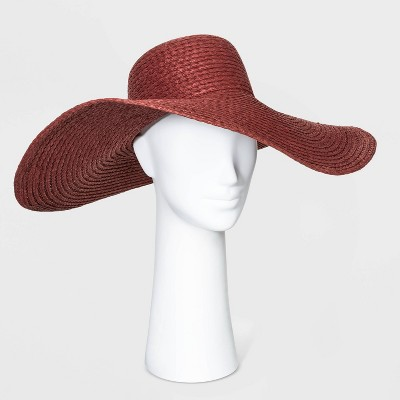 Women's Boater Floppy Hats - A New Day™ Berry One Size