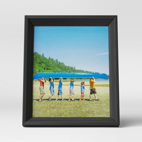 """8"""" x 10"""" Wedge Picture Frame Black - Room Essentials™ - image 1 of 4"""
