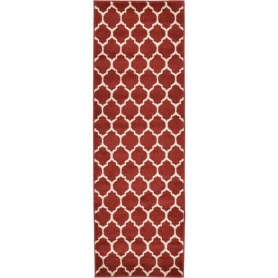 Philadelphia Trellis Rug Red/Beige - Unique Loom