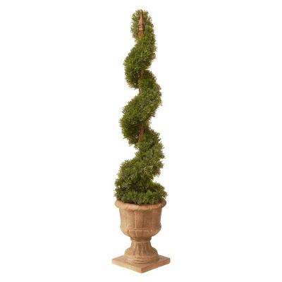 "Cedar Spiral in Urn (48"")"