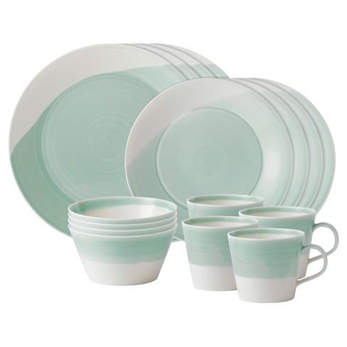 Royal Doulton® 1815 Porcelain 16pc Dinnerware Set Green - image 1 of 1