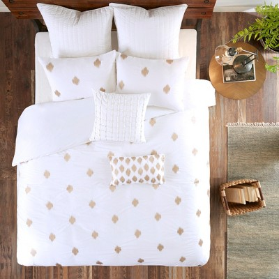 3pc Stella Dot Cotton Duvet Cover Mini Set Copper