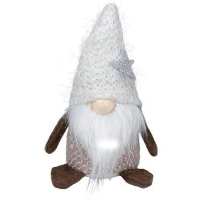 "Northlight 6"" Ivory and Brown Mini Gnome Tabletop Christmas Decoration"
