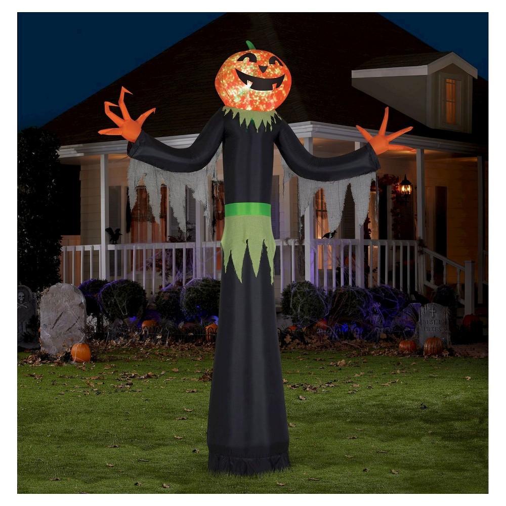 Image of 5pc Halloween Airblown Pumpkin Man Kaleidoscope Projection Giant, Black