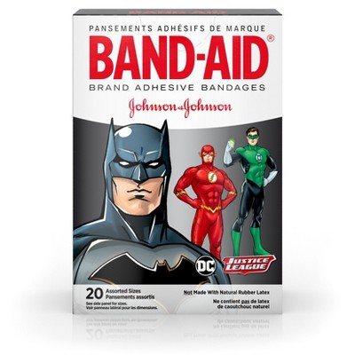 Band-Aid Brand Adhesive Bandages, Justice League - Assorted Sizes - 20ct