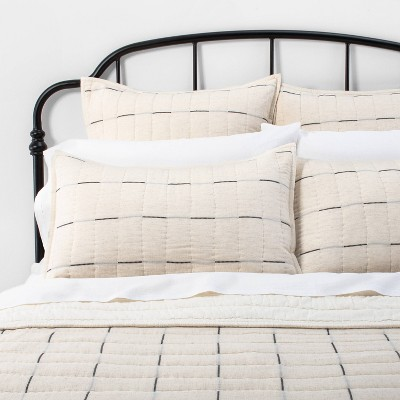 Open Stripe Comforter Set Bedding Collection Railroad Gray - Hearth & Hand™ with Magnolia