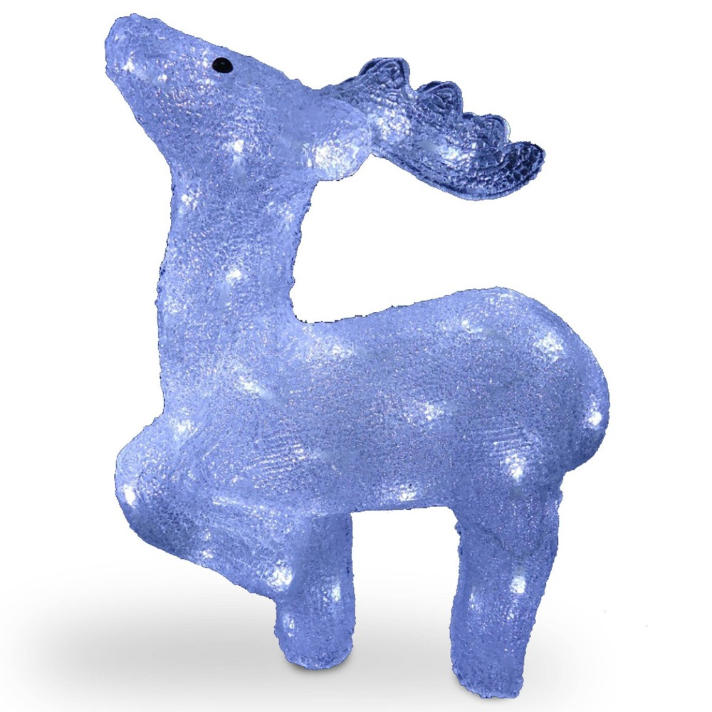 "Image of ""17"""" LED Lit Acrylic Kneeling Deer - National Tree Company"""