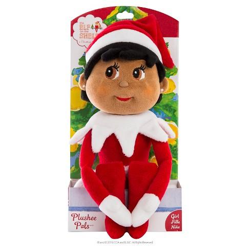 The Elf On The Shelf Plushee Pals Dark Skin Tone Girl Target