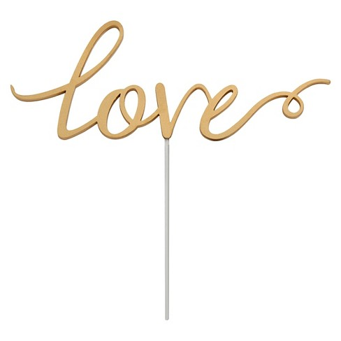 """Love"" Cake Topper Gold - image 1 of 1"