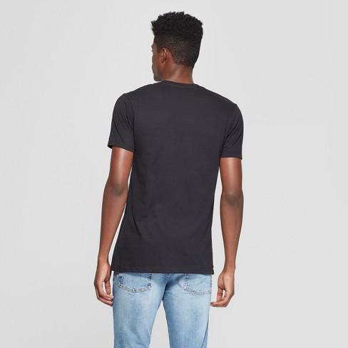 6068ce5a Men's Mickey Mouse Short Sleeve Moto Graphic T-Shirt - Awake Black : Target