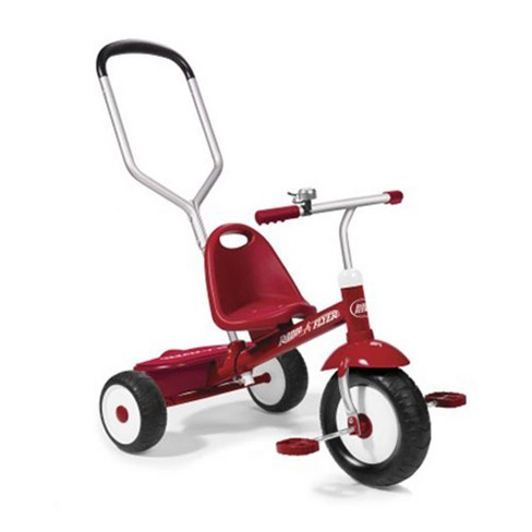 Radio Flyer Deluxe Steer and Stroll Kids Outdoor Recreation Bike Tricycle, Red - image 1 of 4