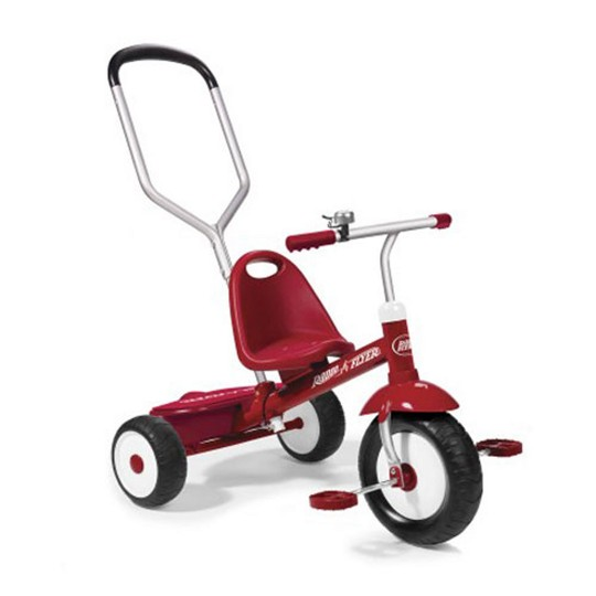 Radio Flyer Deluxe Steer and Stroll Kids Outdoor Recreation Bike Tricycle, Red image number null