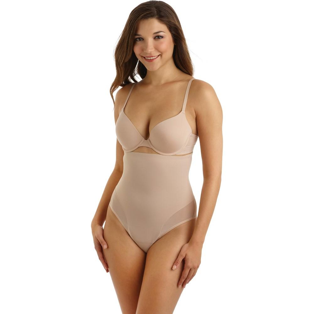 SlimShaper by Miracle Brands Women's High Waist Thongs - Nude M
