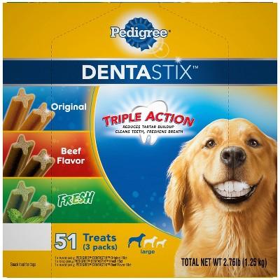 Pedigree Dentastix Variety Pack Large Dental Dog Treats - 51ct