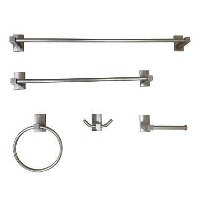 5pc Continental Bathroom Accessory Set Brushed Nickel - Kingston Brass