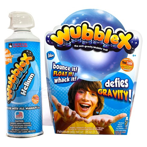 Wubble X Anti-gravity Wubble Ball w/ Single Use Helium Tank