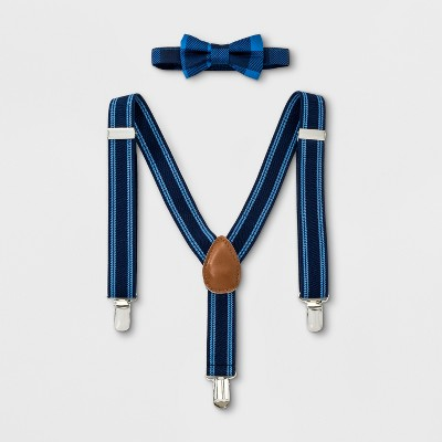 Baby Boys' Bowtie and Suspenders Set - Cloud Island™ Blue