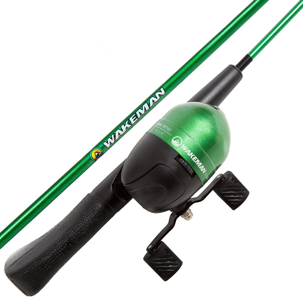 Best Price Wakeman Spawn Series Kids Spincast Combo And Tackle Set Green
