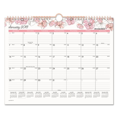 "2018 Blush Wall Calendar 15"" x 12 - image 1 of 1"