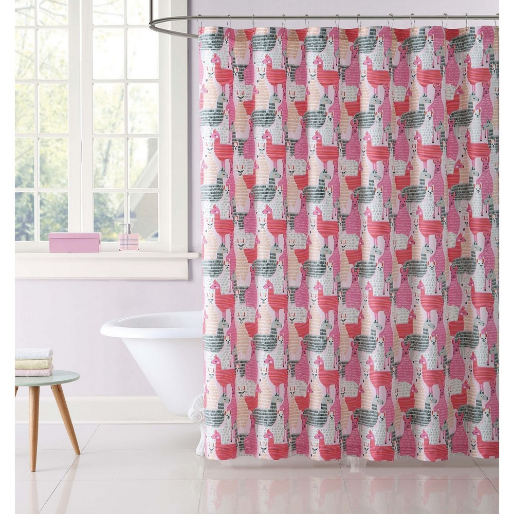 Image of Llama Shower Curtain - My World