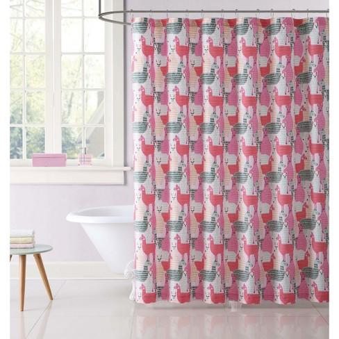 Llama Shower Curtain - My World - image 1 of 2