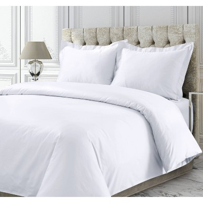 3pc 750 Thread Count Cotton Sateen Oversized Duvet Cover Set - Tribeca Living