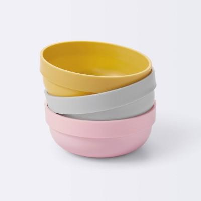 Bowl - 3pk - Cloud Island™ Yellow/Gray/Pink