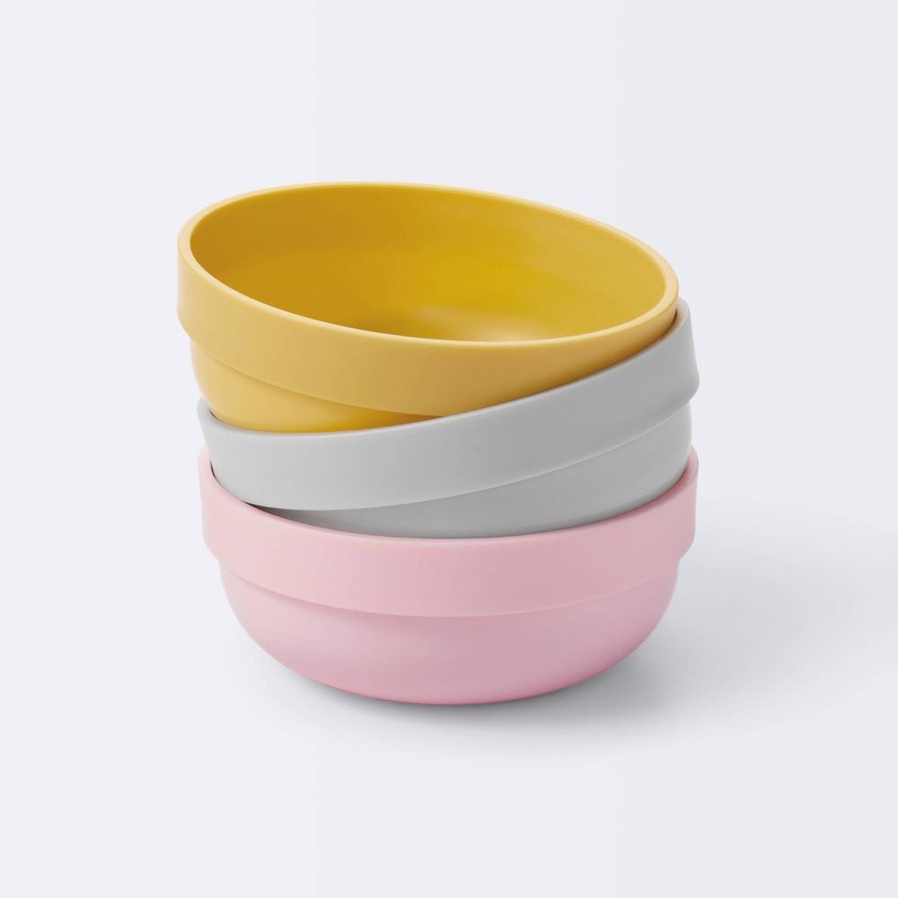 Bowl 3pk Cloud Island 8482 Yellow Gray Pink