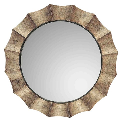 Sunburst Gotham U Antique Decorative Wall Mirror Silver - Uttermost - image 1 of 2