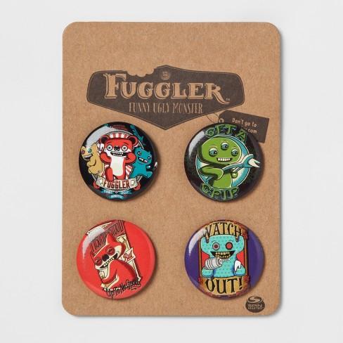 Fuggler 4pk Buttons - image 1 of 1