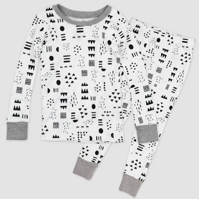 Honest Baby 2pc Play Organic Cotton Pajama Set - White