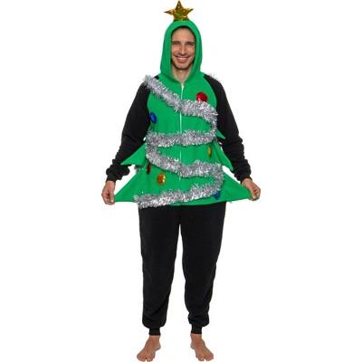 FUNZIEZ! - Holiday Christmas Tree Slim Fit Men's Novelty Union Suit