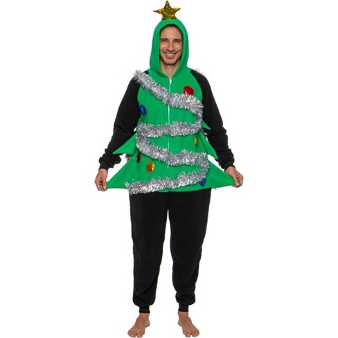 FUNZIEZ! - Holiday Christmas Tree Slim Fit Men's Novelty Union Suit - image 1 of 4
