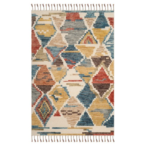 Tribal Design Knotted Area Rug 6'X9' - Safavieh - image 1 of 1
