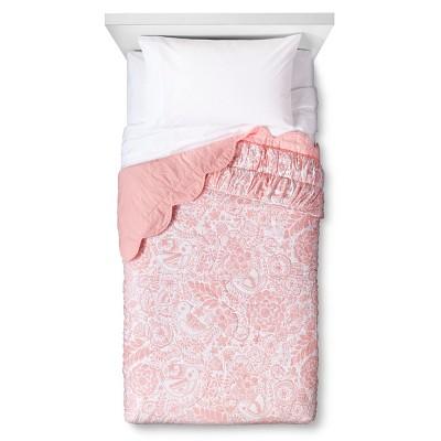Birds Scalloped Edge Quilt - Full/Queen - Light Pink - Pillowfort™